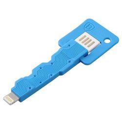 Кабель USB - Lightning для Apple iPhone 5, 5C, 5S, SE, 6, 6 plus, 6S, 6S Plus, 7, 7 Plus, iPad 4, Air, Air 2, Pro 9.7, Pro 12.9, PRO, mini 1, mini 2, mini 3, mini 4 (Baseus Keys Cable CAAPIPH5-KE03) (синий)