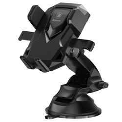 Универсальный автомобильный держатель (Baseus Robot Car Bracket With Sucker SUROB-01) (черный)
