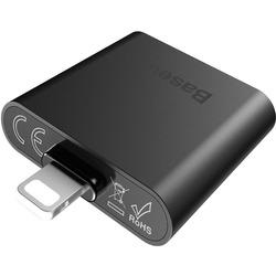 Переходник Lightning - 2хLightning для Apple iPhone 7, 7 Plus (Baseus IP To Double IP Socket Adapter L39) (черный)