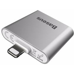 Переходник Lightning - 2хLightning для Apple iPhone 7, 7 Plus (Baseus IP To Double IP Socket Adapter L39) (серебристый)