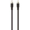 Кабель RCA - RCA 2м (Belkin Digital Coax Audio Cable F3Y095BF2M) (черный) - Кабель, разъем для акустической системыКабели и разъемы для акустических систем<br>Идеален для соединения элементов стереосистемы, подключения колонок к усилителю или объединения компонентов АС.<br>