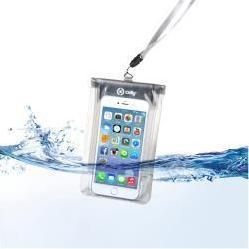 """Универсальный водонепроницаемый чехол до 5.7"""" (Celly Splash SPLASHBAGWH) (белый)"""