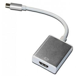 Переходник USB Type-C - HDMI (Palmexx PX/CBL USBC-HDMI S) (серебристый)