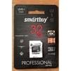 Карта памяти Smartbuy PRO microSDHC 32GB Class10 UHS-I(U3) + SD адаптер - Карты памятиКарты памяти<br>Тип microSDHC, объем 32Гб, Class10, в комплекте SD адаптер.<br>