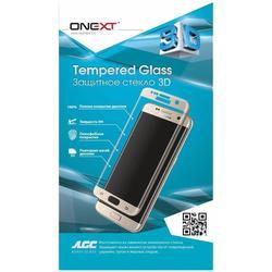 Защитное стекло для Samsung Galaxy S6 Edge (Onext 3D 41024) (белая рамка)