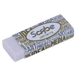 Ластик Deli EH00610 22x12x60мм белый индивидуальная картонная упаковка