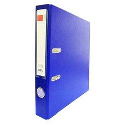 Папка-регистратор Deli E39593BLUE A4 50мм полипропилен, бумага синий мет.окант. разборная смен.карм. на кор.