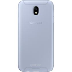 Чехол накладка для Samsung Galaxy J7 (2017) (Jelly Cover EF-AJ730TLEGRU) (голубой)