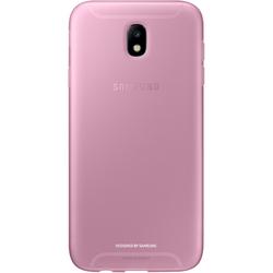 Чехол накладка для Samsung Galaxy J7 (2017) (Jelly Cover EF-AJ730TPEGRU) (розовый)