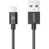 Кабель USB - Lightning для Apple iPhone 5, 5C, 5S, SE, 6, 6 plus, 6S, 6S Plus, 7, 7 Plus, iPad 4, Air, Air 2, Pro 9.7, Pro 12.9, PRO, mini 1, mini 2, mini 3, mini 4 (Anker A7136H11) (черный) - Usb, hdmi кабельUSB-, HDMI-кабели, переходники<br>Кабель USB - Lightning, для зарядки и синхронизации, материал коннекторов - алюминий, совместимость - со всеми устройствами Lightning, длина - 0.9 м<br>