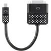 Переходник mini DisplayPort - DVI (Belkin F2CD029BT) (черный) - Кабель, переходникКабели, шлейфы<br>Позволяет передавать видеосигнал высокого разрешения с вашего ноутбука или планшетного компьютера на дополнительный монитор, плазменную панель или видеопроектор.<br>