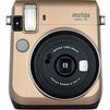 Fujifilm Instax mini 70 (золотистый) - Фотоаппарат цифровойЦифровые фотоаппараты<br>Камера моментальной печати Fujifilm Instax MINI 70 - размер фотографии 62 х 46 мм, фокусное расстояние 60 мм, конструкция объектива, элементов в группах - 2/2, тип затвора - электронный, максимальная выдержка - 1/2 сек, минимальная выдержка - 1/400 сек, вспышка - стационарная, тип питания - 2хCR2032.<br>