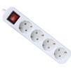 Сетевой фильтр Defender S450 4 розетки 5м (белый) - Сетевой фильтрСетевые фильтры<br>4 розетки с заземлением, выключатель, длина шнура 5м.<br>