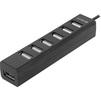 Defender Quadro Swift (83203) (черный) - USB HUBUSB HUB<br>Компактный 7-портовый мини-хаб, тип USB 2.0, высокая скорость передачи данных – до 5 Гбит/с, поддерживает режим «горячей» замены, питание от USB-порта.<br>