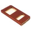 Чехол книжка для Apple iPhone 6, 6s (Heddy Aperture Cover) (коричневый) - Чехол для телефонаЧехлы для мобильных телефонов<br>Обеспечит надежную защиту Вашего устройства от царапин, сколов и потертостей.<br>