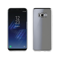 Чехол-накладка для Samsung Galaxy S8 Plus (Muvit Bling Case MLBKC0165) (серебристый)