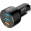 Автомобильное зарядное устройство 3хUSB, 3А (Aukey CC-T11) (черный) - Автомобильный адаптерАвтомобильные адаптеры 12v - USB<br>Маленькое АЗУ с 3 портами USB, стильный эргономичный дизайн, поддержка технологий QC 3.0 и AiPower, суммарная мощность 42 Вт.<br>