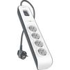 Сетевой фильтр 4 розетки 2м (Belkin Surge Protectors BSV400vf2MK) (белый) - Сетевой фильтрСетевые фильтры<br>Сетевой фильтр, 2 м, количество розеток - 4, максимальная поглощаемая энергия - 525 Дж, индикация включения, заземляющий контакт, защита от короткого замыкания.<br>