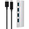 Концентратор 4 x USB 3.0 (Belkin F4U088VF) (серебристый) - USB HUBUSB HUB<br>Концентратор, корпус - алюминий, интерфейсы 4 x USB 3.0, скорость передачи данных (общая)- 5 Гбит/с, подключение - USB Micro-B, зарядка - блок питания, 900 мАч.<br>