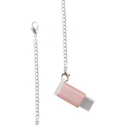 Переходник microUSB - USB-C (COTEetCI M31 CS2145-MRG) (розовый)