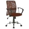 Офисное кресло COLLEGE H-8078F-5 (коричневый) - Стул офисный, компьютерныйКомпьютерные кресла<br>Спинка кресла из высокопрочной акриловой сетки, механизм качания: топ-ган, подлокотники: ударопрочный пластик с хромированными вставками, крестовина: металлическая хромированная, максимальная нагрузка 120 кг.<br>