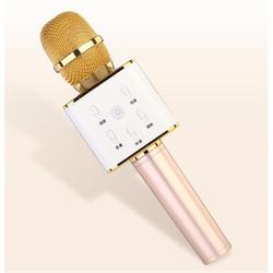 Беспроводной микрофон караоке Q7 (Palmexx PX/MIC-Q7-G) (золотистый)