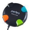 USB HUB 4 порта (Perfeo PF-VI-H020) (черный) - USB HUBUSB HUB<br>Perfeo PF-VI-H020 -  USB-концентратор на 4 порта, интерфейс USB 2.0, пластик.<br>