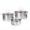Набор посуды из 3 предметов (Swiss Diamond SD PS SET L3) - Кастрюля, ковшКастрюли и ковши<br>Набор посуды из 3 предметов - объем низкой кастрюли 3 л, объем высокой кастрюли 3.6 л, объем ковша 1.5 л, материал - нержавеющая сталь, материал крышки - жаропрочное стекло.<br>