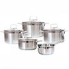 Набор посуды из 5 предметов (Swiss Diamond SD PS SET L5) - Кастрюля, ковшКастрюли и ковши<br>Набор посуды из 5 предметов - объем низкой кастрюли 16 см - 1.5 л, объем низкой кастрюли 20 см - 3 л, объем средней кастрюли 20 см - 3.6 л, объем большой кастрюли 24 см - 6.1 л, объем ковша - 1.5 л, материал - нержавеющая сталь, материал крышки - жаропрочное стекло.<br>