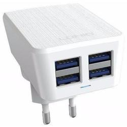 Универсальное сетевое зарядное устройство, адаптер 4хUSB, 4.2А (LDNIO AC62) (белый)