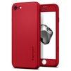 Чехол-накладка для Apple iPhone 7 Spigen Thin Fit 360 (042CS21726) (красный) - Чехол для телефонаЧехлы для мобильных телефонов<br>Обеспечит защиту смартфона со всех сторон, закаленное стекло убережет экран от царапин.<br>