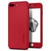 Чехол-накладка для Apple iPhone 7 Plus Spigen Thin Fit 360 (043CS21731) (красный) - Чехол для телефонаЧехлы для мобильных телефонов<br>Обеспечит защиту смартфона со всех сторон, закаленное стекло убережет экран от царапин.<br>