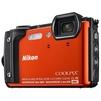 Nikon Coolpix W300 (оранжевый) - Фотоаппарат цифровойЦифровые фотоаппараты<br>Компактная фотокамера, матрица 16.76 МП (1/2.3), съемка видео 4K, оптический зум 5x, экран 3, Wi-Fi, Bluetooth, GPS, влагозащищенный корпус, вес с элементами питания 231 г, режим макросъемки.<br>