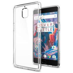 Чехол-накладка для OnePlus OnePlus3, 3T (Spigen Ultra Hybrid K03CS20616) (кристально-прозрачный)