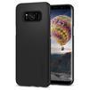 Чехол-накладка для Samsung Galaxy S8 (Spigen Thin Fit 565CS21624) (черный) - Чехол для телефонаЧехлы для мобильных телефонов<br>Защитит смартфон от грязи, пыли, брызг и других внешних воздействий.<br>