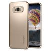 Чехол-накладка для Samsung Galaxy S8 (Spigen Thin Fit 565CS21622) (шампань) - Чехол для телефонаЧехлы для мобильных телефонов<br>Защитит смартфон от грязи, пыли, брызг и других внешних воздействий.<br>