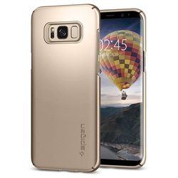 Чехол-накладка для Samsung Galaxy S8 (Spigen Thin Fit 565CS21622) (шампань)