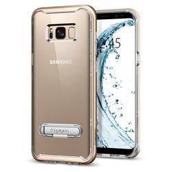 Чехол-накладка для Samsung Galaxy S8 (Spigen Crystal Hybrid 565CS20836) (шампань)