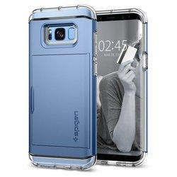 Чехол-накладка для Samsung Galaxy S8 (Spigen Crystal Wallet 565CS21088) (голубой)