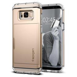Чехол-накладка для Samsung Galaxy S8 (Spigen Crystal Wallet 565CS21087) (шампань)