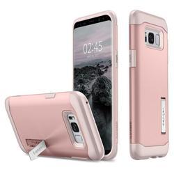 Чехол-накладка для Samsung Galaxy S8 (Spigen Slim Armor 565CS21434) (розовое золото)