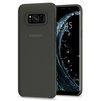 Чехол-накладка для Samsung Galaxy S8 Plus (Spigen Air Skin 571CS21678) (черный) - Чехол для телефонаЧехлы для мобильных телефонов<br>Защитит смартфон от грязи, пыли, брызг и других внешних воздействий.<br>