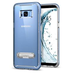 Чехол-накладка для Samsung Galaxy S8 Plus (Spigen Crystal Hybrid 571CS21128) (голубой коралл)