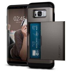 Чехол-накладка для Samsung Galaxy S8 Plus (Spigen Slim Armor CS 571CS21670) (стальной)
