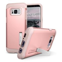 Чехол-накладка для Samsung Galaxy S8 Plus (Spigen Slim Armor 571CS21439) (розовое золото)