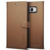 Чехол книжка для Samsung Galaxy S8 Plus (Spigen Wallet S Case 571CS21688) (коричневый) - Чехол для телефонаЧехлы для мобильных телефонов<br>Защитит смартфон во время падений, а также от грязи, пыли и других внешних воздействий.<br>