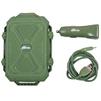 Ritmix RM-3499DC (зеленый) - Внешний аккумуляторУниверсальные внешние аккумуляторы<br>Ritmix RM-3499DC - набор зарядных устройств. Power Bank Ritmix RPB-10007L: 10000 мАч, индикатор заряда, пыле- и влагозащита, силикон и ABS пластик. Универсальное автомобильное зарядное устройство, адаптер 2хUSB, 3.4 А (до 2.4 А каждый, суммарно до 3.4А). Кабель USB - micro USB, длинна 1м.<br>