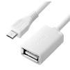 Адаптер переходник OTG microUSB (m) - USB A (f) 0.75м (Greenconnect GCR-MB8AF-AA-0.75m) (белый) - Usb, hdmi кабель, переходникUSB-, HDMI-кабели, переходники<br>Позволит легко синхронизировать мобильные устройства, смартфоны, планшеты, с функцией поддержки OTG, с любым устройством, которое имеет USB штекер.<br>