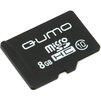 Qumo microSDHC class 10 8GB (QM8GMICSDHC10NA) - Карты памятиКарты памяти<br>Карта памяти microSDHC, Class 10, объем 8 Гб, в комплекте адаптер на SD<br>