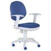 Кресло детское Бюрократ CH-W356AXSN (тесно-синий, белый) - Стул офисный, компьютерныйКомпьютерные кресла<br>Бюрократ CH-W356AXSN - кресло детское, подлокотники и крестовина: пластик, регулировка под вес (газлифт), регулировка силы отклонения спинки, механизм качания пружинно-винтовой, макс. вес 120 кг; материал обивки: ткань.<br>
